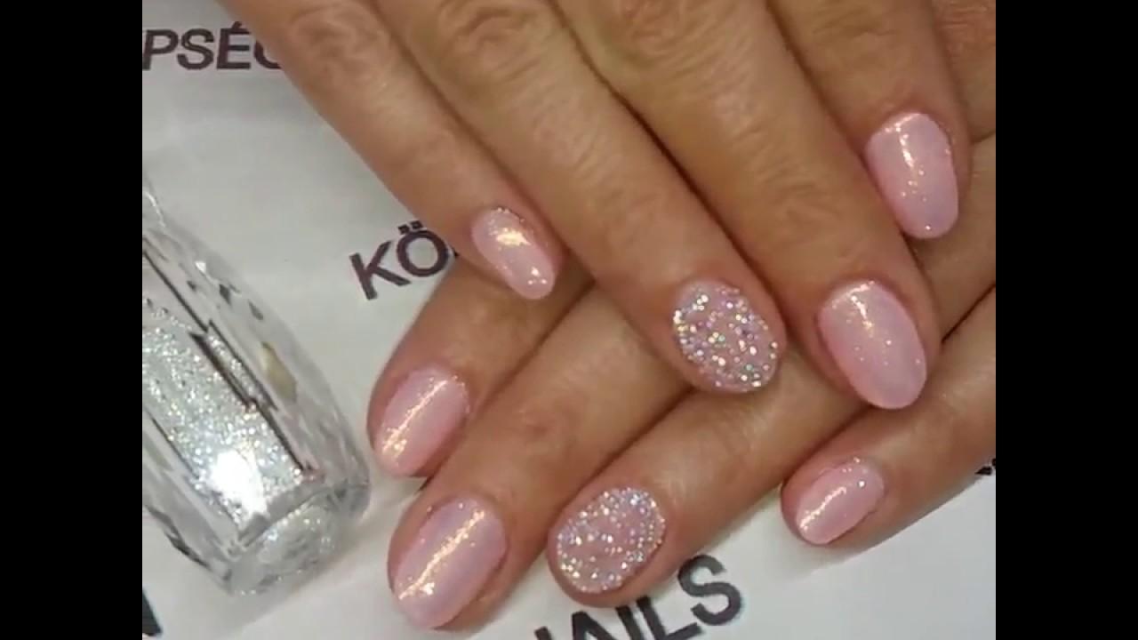 Pink Swarovski Crystal Pixie Nails
