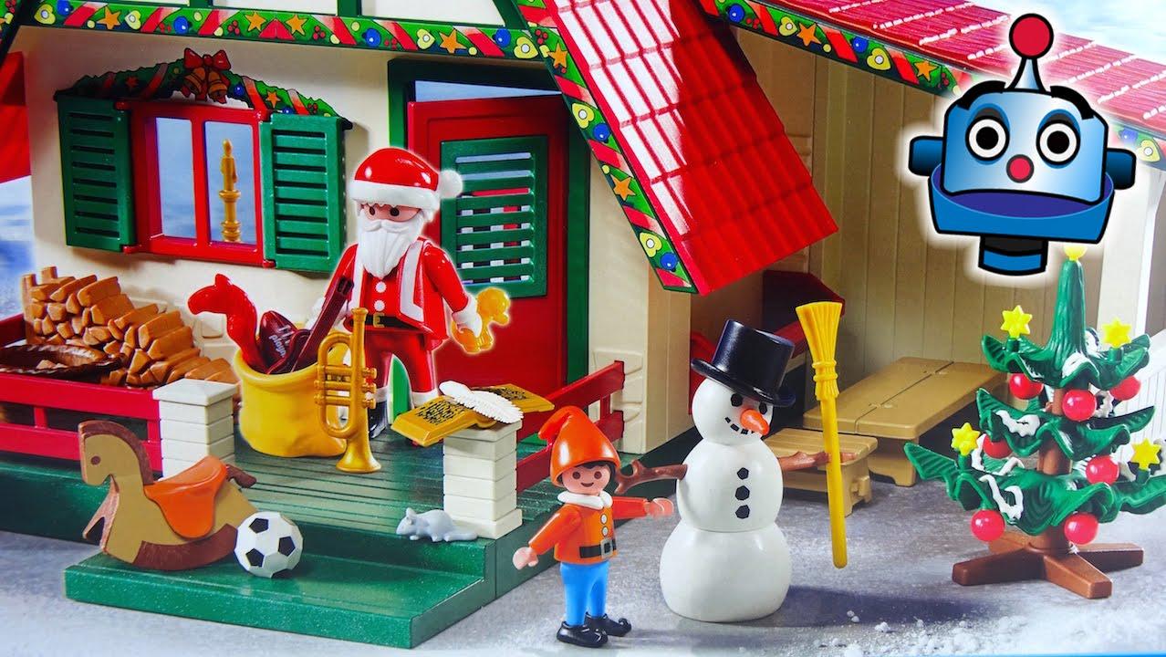 Playmobil christmas la casa de pap noel 5976 santa s home for La casa de playmobil