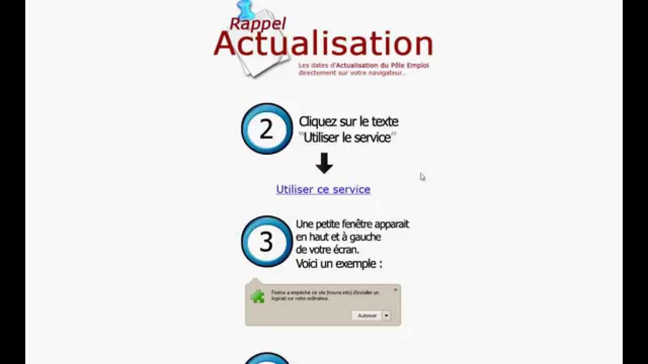 Rappel Actualisation A Pole Emploi Pole Emploi Fr Ou 3949 Youtube