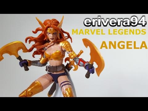Marvel Legends Angela Figure Review Guardians of the Galaxy Vol. 2 Titus Build a Figure