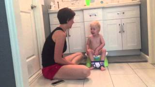 Sterling is potty training with mommy