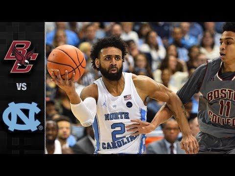 Boston College vs. North Carolina Basketball Highlights (2017-18)