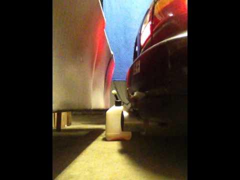 honda civic eg w/ Apexi n1 turbo exhaust w/ 2.25 piping