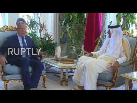 Qatar: Lavrov meets Emir of Qatar in Doha ahead of discussions