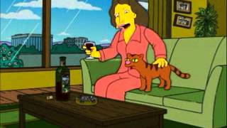 Origin of Crazy Cat Lady - Eleanor aged 8 - The Simpsons