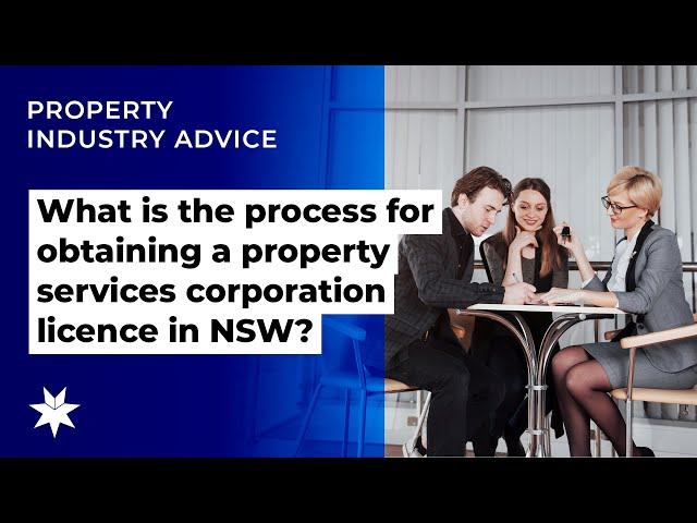 What is the process for obtaining a property services corporation licence in NSW?