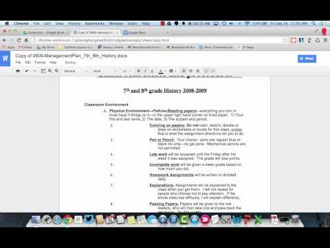 Editing MS Office Files in the New Google Drive