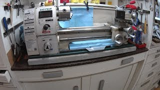 grizzly g0768z - 8 x 16 variable-speed lathe with dro video