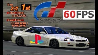Gran Turismo 2 PS1 / PSX @ real 60fps gameplay 1440p HD (GT2, PGXP emu)
