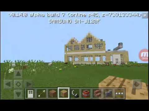 Ev tanıtımı ve bilgiler.Minecraft pe