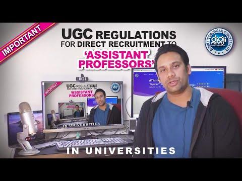 UGC Regulations For Direct Recruitment To Assistant Professors In Universities - Summary