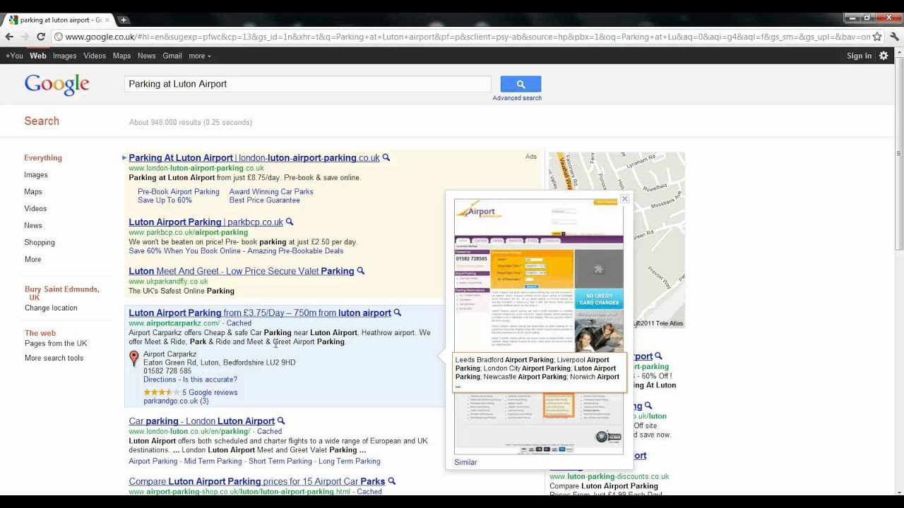 Search For Parking At Luton Airport Youtube