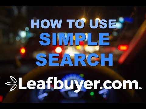Leafbuyer's Simple Search in 60 Seconds I Leafbuyer