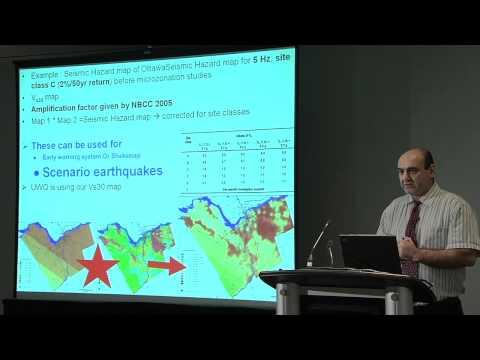 Prof. Dariush Motazedian  of Carleton University speaks at Canadian Seismic Research Network