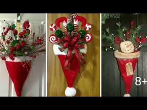 Ideas gorras de santa para decorar puertas navidad 2018 for Adornos navidenos 2018 para puertas