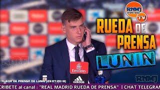 Andriy LUNIN RUEDA DE PRENSA presentación REAL MADRID (23/07/2018)