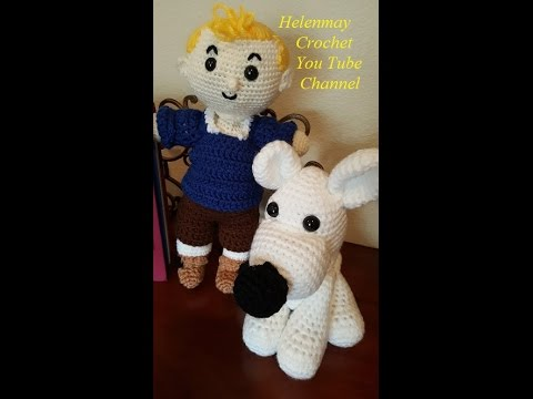 Crochet Quick Easy Beginner Little White Amigurumi Dog for Doll DIY Tutorial