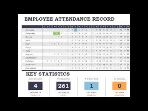 daily staff attendance record template in excel youtube
