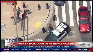 ONE SUSPECT CAUGHT: Following CA Police Chase that Lands at Glendale Galleria (FNN)