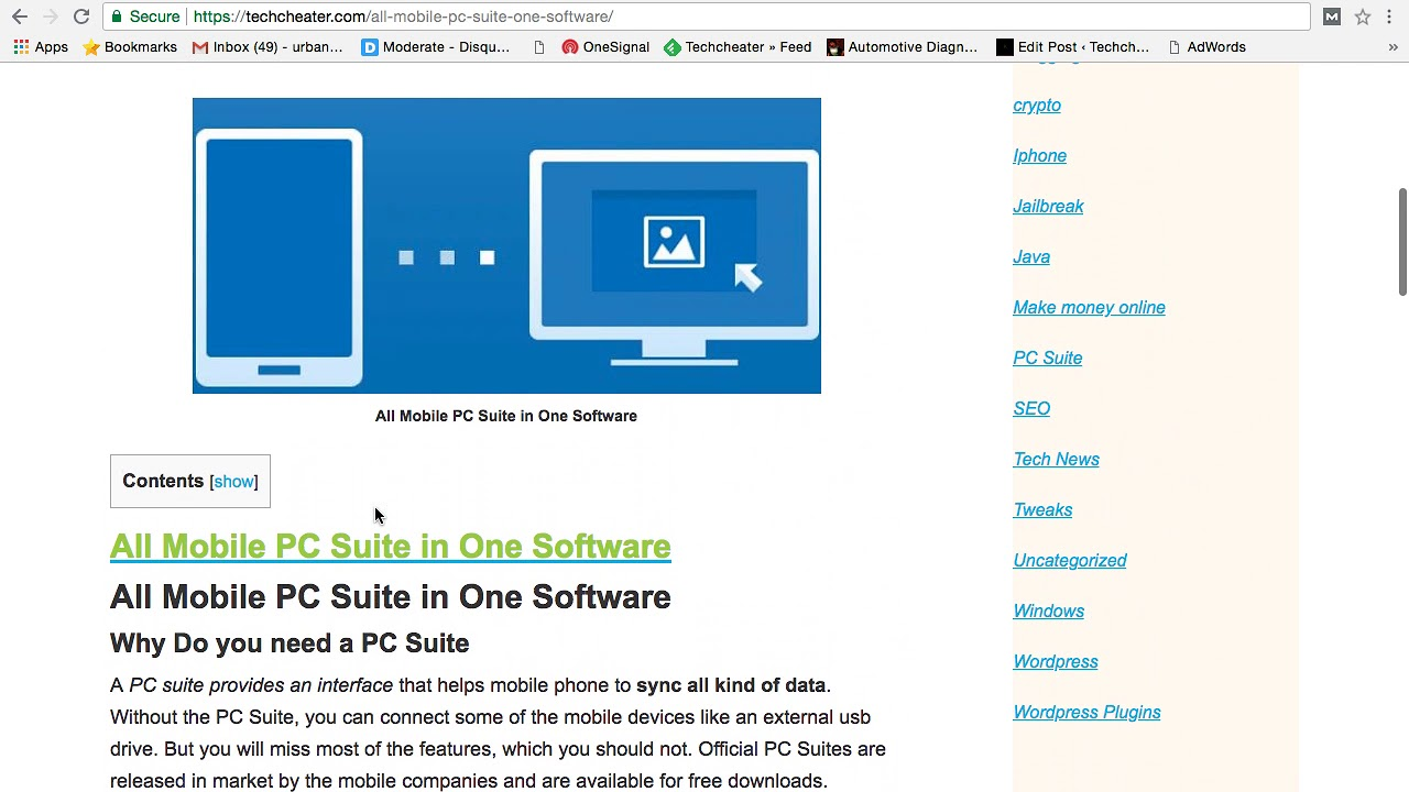 all mobile pc suite download link for computer and laptops with detailed  explaanation