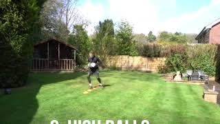 Работа ног и ловля высоко летящего мяча в прыжке