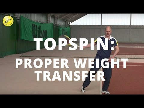 Tennis Tip: Proper Weight Transfer On Topspin Groundstrokes