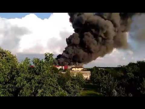 Incendiu in Balotesti. Video: Adrian Nache