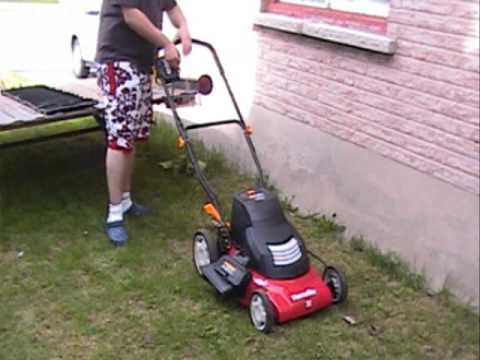 Homelite 24v Cordless Lawn Mower Ut13122 Youtube
