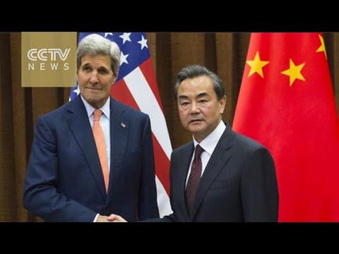 Wang Yi and John Kerry agree on peaceful resolution to S. China Sea disputes