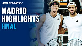 Alexander Zverev vs Matteo Berrettini | Madrid 2021 Final Highlights