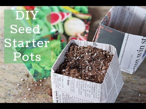 DIY Newspaper Seed Starting Pots
