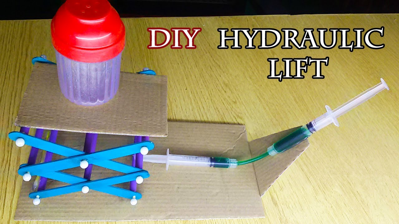 Hydraulic Arm With Popsicle Sticks : How to make mini hydraulic scissor lift table at home from