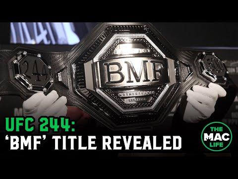 Dana White Unveils The 'BMF' Title Belt   UFC 244