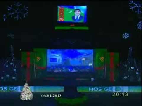 Gurbanguly Berdimuhamedow & Annaguly Myratdurdyyew & Parahat Amandurdyyew   Taze yyl konserdi