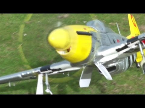 1400 mm P51 D Mustang flying on a nice day... nothing to complain!