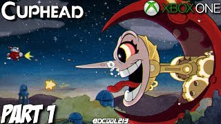 Cuphead Gameplay Walkthrough Part 1 - World 1 - Xbox One Lets Play