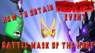 How to Obtain the Battle Mask of the Hunt - ROBLOX HEROES EVENT (HEROES!)