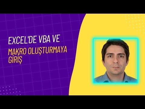 Excel'de Visual Basic (VBA) ve Makro Oluşturmaya Giriş
