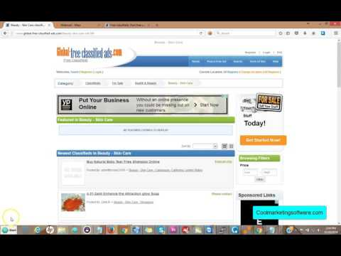 Global Free Classified Ad Submitter Software Quick Start Guide