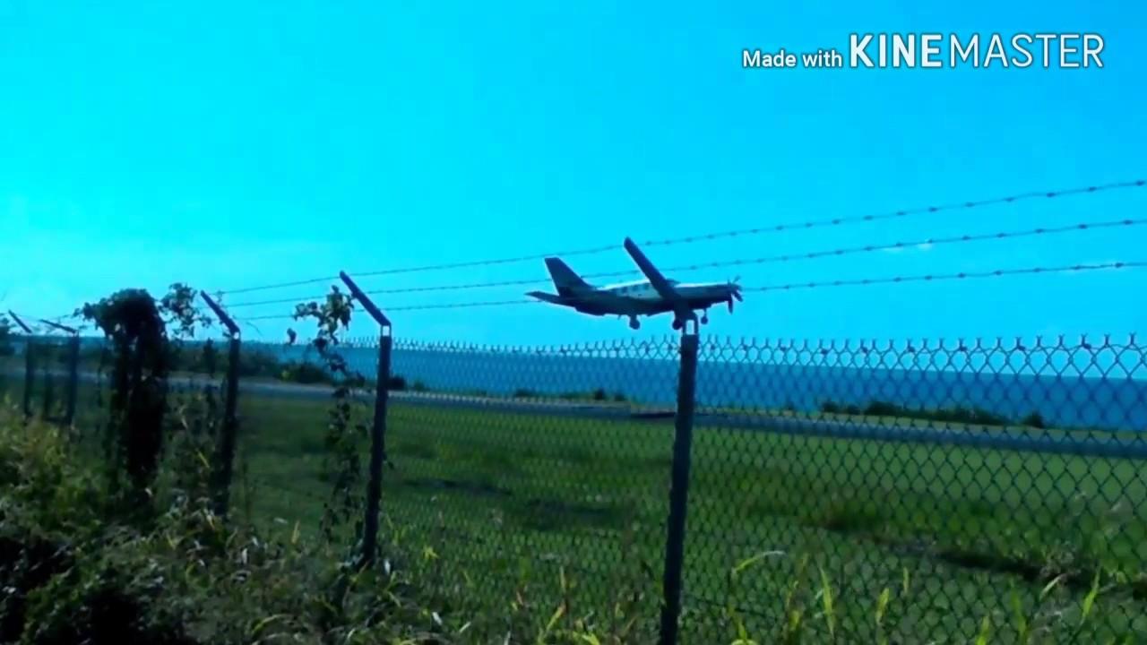 Winair Twin Otter (PJ-WCD & PJ-WIP) landing & Coastal Airways Cessna 402 departure @ TDCF