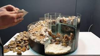 ARTIFICIAL Waterfall AKVARYUM - Wonderful View of Glass and Stones (DIY)