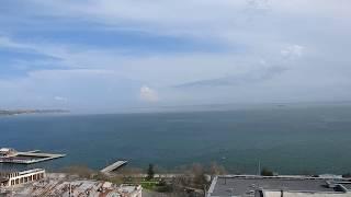 Вид на море.Гора Митридат. Место -где стоял музей древностей.Керчь.
