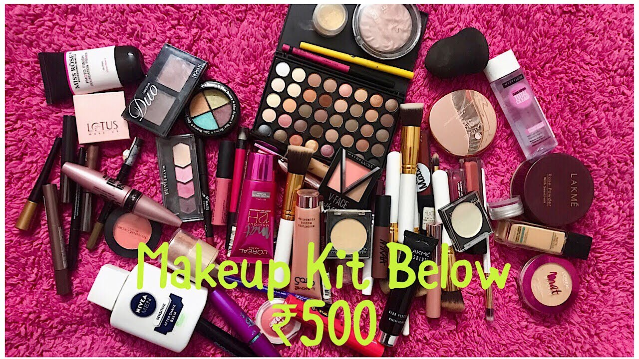 MAKEUP KIT UNDER Rs. 500 | AFFORDABLE MAKEUP KIT FOR BEGINNERS | MAKEUP KIT FOR BEGINNERS