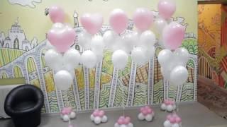 видео фонтан из шаров