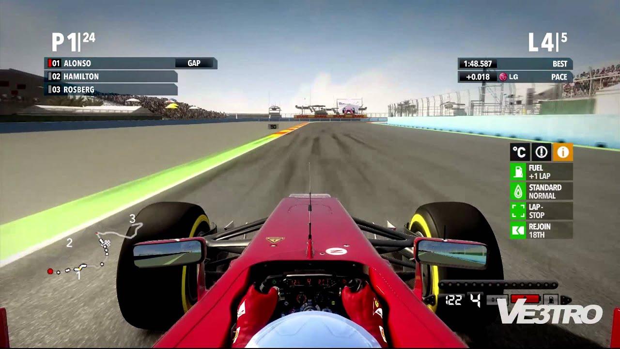 F1 2012 Ferrari Europe Valencia Street Circuit Gameplay Youtube
