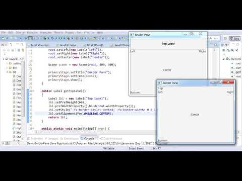 JavaFX BorderPane Example