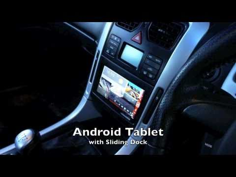 android tablet in car sliding dock viewsonic viewpad7. Black Bedroom Furniture Sets. Home Design Ideas