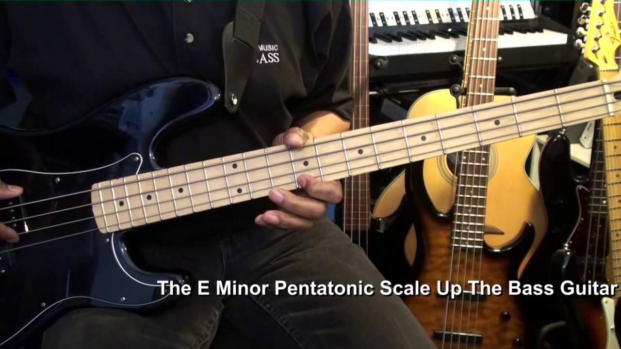 How To Play E Minor Pentatonic Scale On Bass Guitar EricBlackmonMusicHD