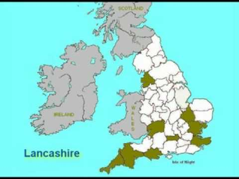 HAM Counties of Origin in England