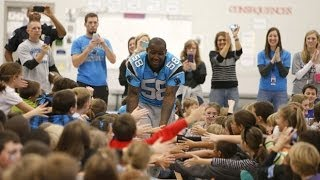 Panthers star players come out for Play60 pep rally in Fort Mill